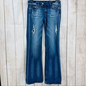 Miss Me distressed flare bootcut destroyed jeans